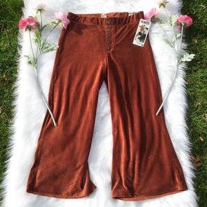 NWT Rewash Wide Leg Comfy Bronze/Brown Pants